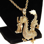 """Gold Dragon 30"""" Rope Chain"""
