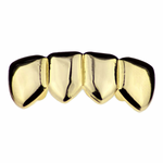 Gold 4 Tooth Lower Grillz