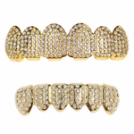 Gold Micro Pave Grillz Set