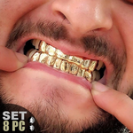 Gold Plated 925 4/4 Custom Grillz
