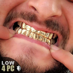 Gold Plated 925 Low 4 Custom Grill