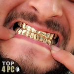 Gold Plated 925 Top 4 Custom Grill