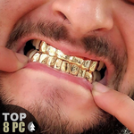 Gold Plated 925 Top 8 Custom Grillz