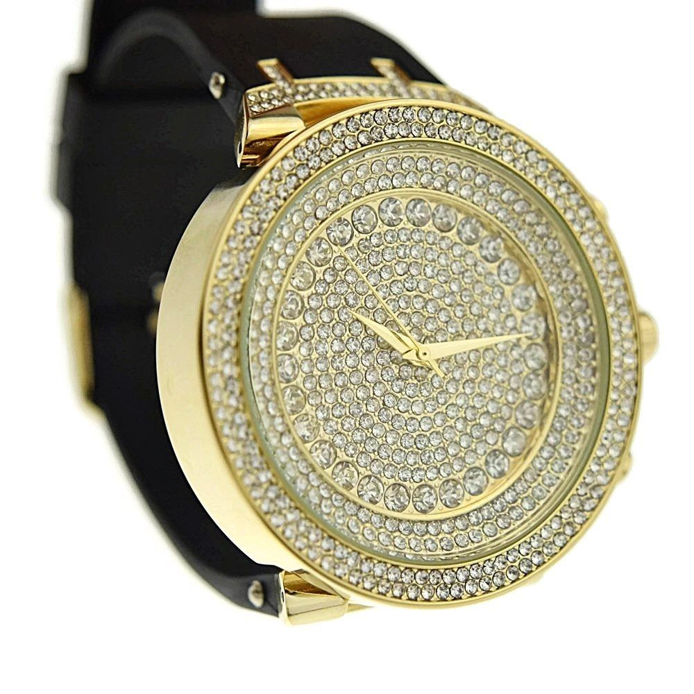 Gold Round Hip Hop Watch Watches