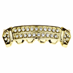 Gold 2-Row Side Bling Low Grillz