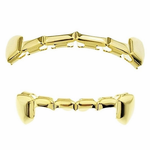 14k Gold Plated Half Grillz Set