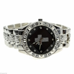 Black Face Hip Hop Cross Watch