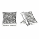 Kite Earrings Silver Tone 15 MM