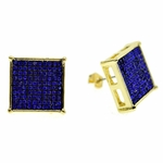 Square Blue 16MM Earrings