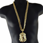 "Big Jesus Head 33"" Cuban Chain"