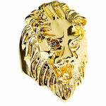 Huge Lion Head Hip Hop Ring