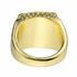 Gold Double Square Ring 20x20MM