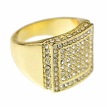 Gold Double Square Ring