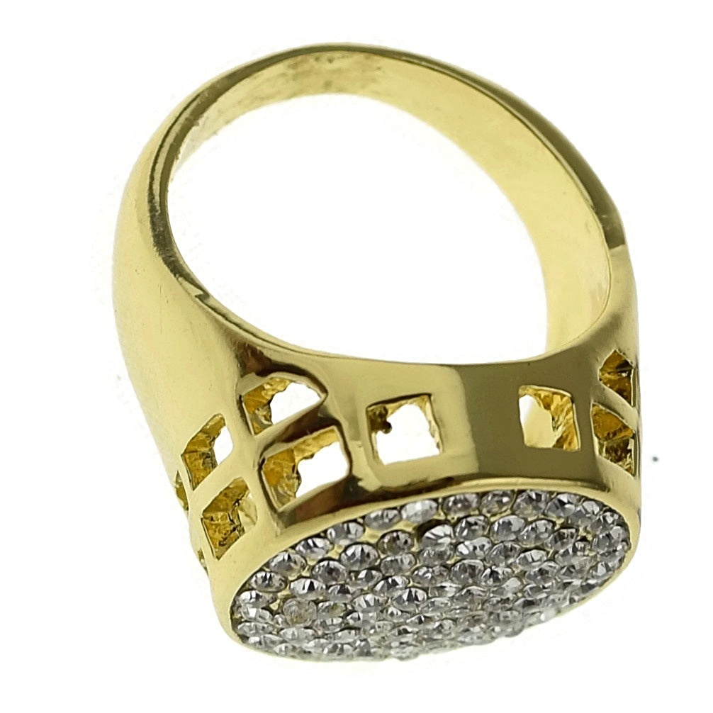 micro pave gold tone ring rings