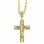"Jesus Piece Crucifix 24"" Rope Chain"
