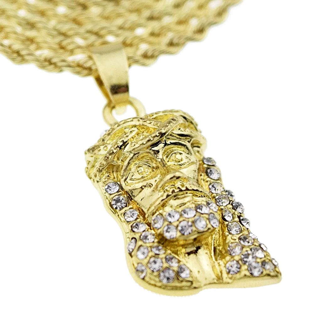 rc micro chain glo gold style gang pendant hip hop chains