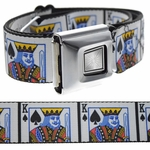 King Of Spades Buckle-Down Belt