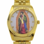 La Virgen Gold Tone Men's Watch