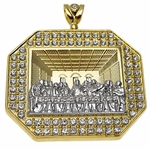 Last Supper Gold & Silver Charm