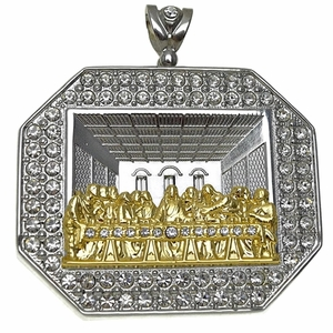 Last Supper Silver & Gold Charm