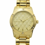 Modern Men's Gold Tone Watch