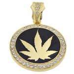 Weed Black Gold Pendant