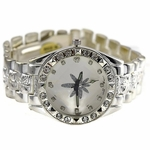 Marijuana Leaf Silver Watch