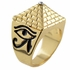 Masonic Pyramid Gold Tone Ring