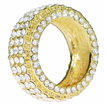 Mens Full Stone Gold Ring