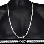 "Miami Cuban Silver Chain 30"" 6MM"