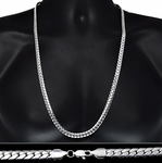 "Miami Cuban Silver Chain 30"" 8MM"