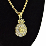 Micro Money Bag Rope Chain 24""