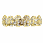 Gold Micro Pave Top Grillz