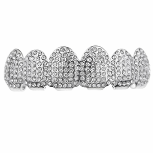 Silver Micro Pave Top Grillz