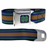 Notre Dame Stripes Buckle-Down Belt