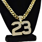 "Number 23 Gold 30"" Cuban Chain"