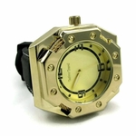 Octagon Gold Tone Men's Watch