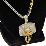 """One-Row Gold 24"""" Basketball Chain"""