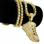 """One-Row Gold 24"""" Shoe Chain"""