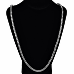 One Row Silver Chain W/Box Clasp