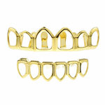 Gold 6 Open Face Grillz Set