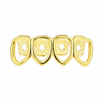 All 4 Open Low Gold Grillz