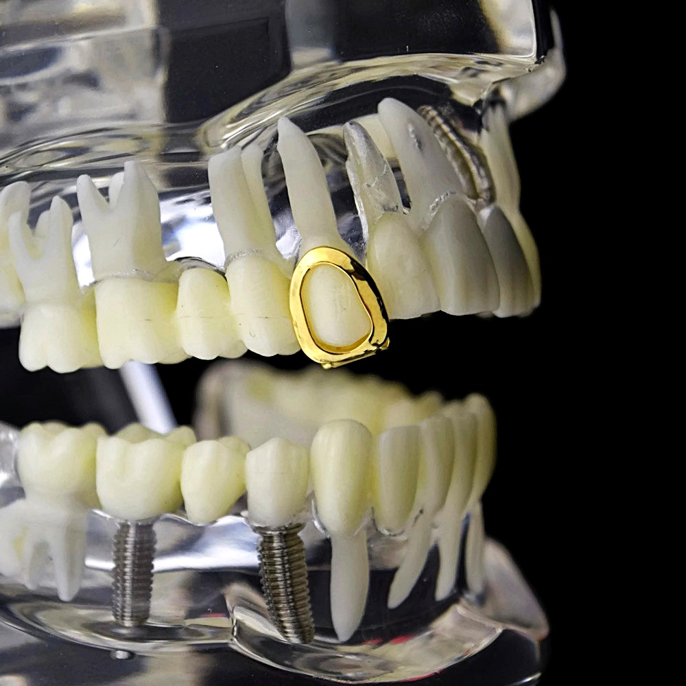 Gold Open Single Tooth - Grillz > All