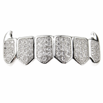 Premium Silver CZ Low Fangs