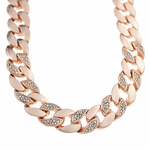 "26"" Rose Gold Chain Quarter Stone"