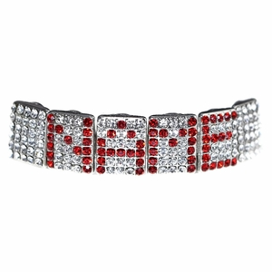 Red Personalized Name Grillz
