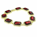 Red Rubies Hip Hop Bracelet