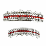 Red Stones 3-Row Grillz Set