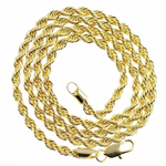 "Rope Chain 24"" Gold Plated 4MM"