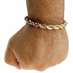"Rope Chain Bracelet 8"" x 8MM"